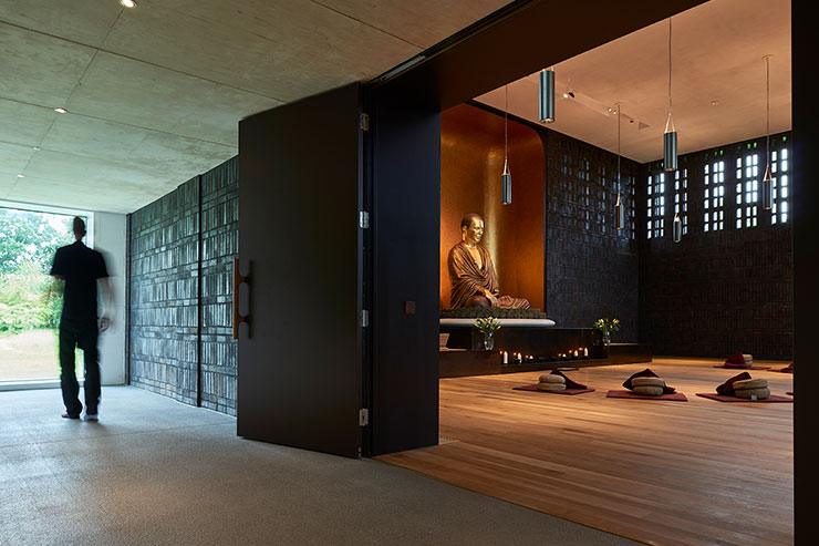 Shrine Room Vajrasana Retreat Centre UK architectural
