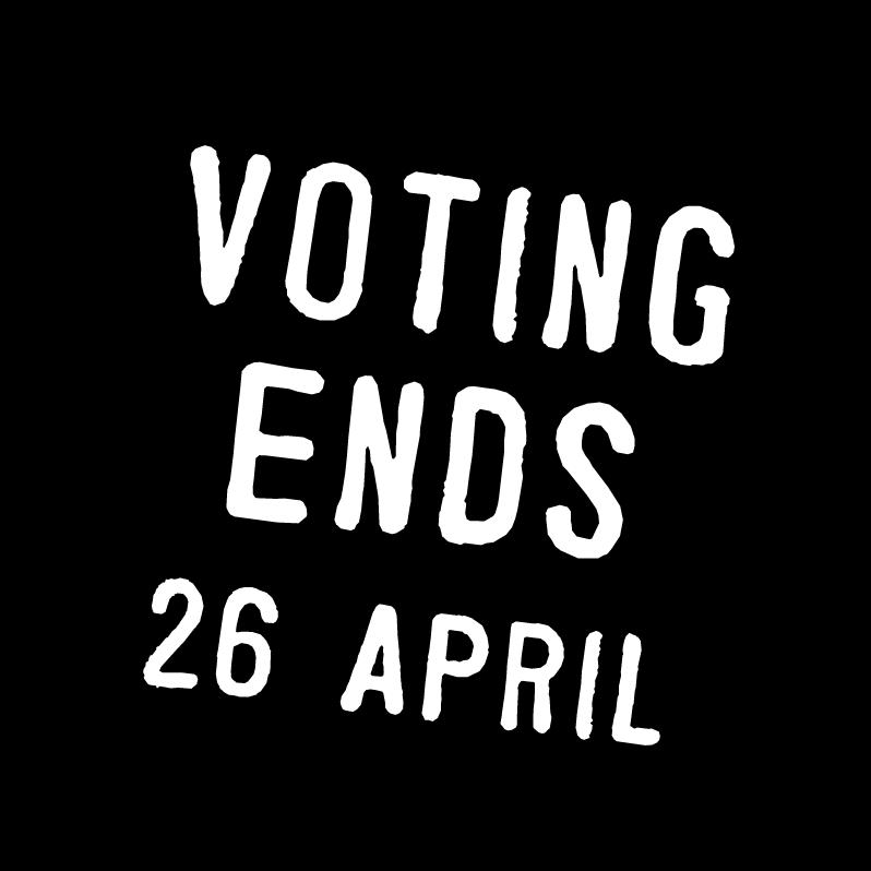voting ends 26 april